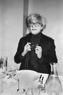 Andy Warhol with Camera, New York