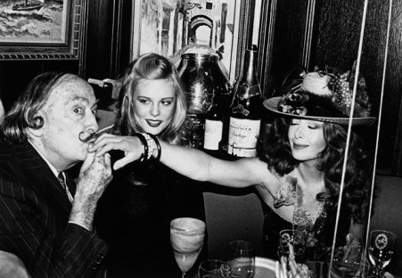 Salvador Dali, Janet Daly and the Stranger, New Years Eve