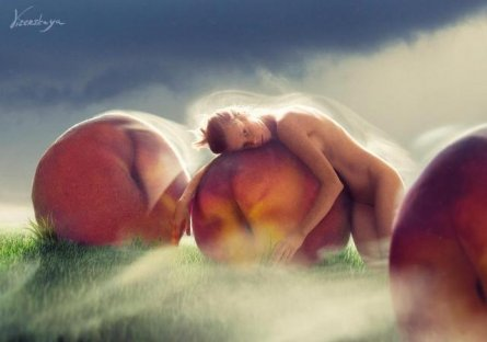 Peaches fields («Passion garden» series)
