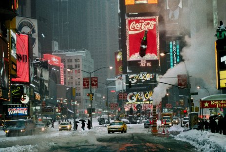 Times Square in winter