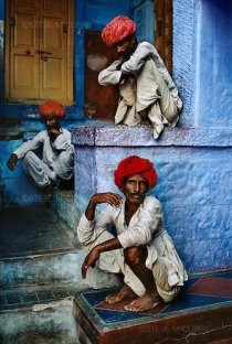 Men on steps, Jodhpur