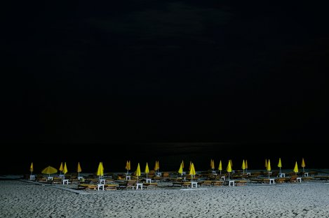 Beach in the night, Odessa, Ukraine